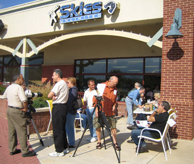 Customers at Mid-Atlantic Astronomy Expo outside Skies Unlimited